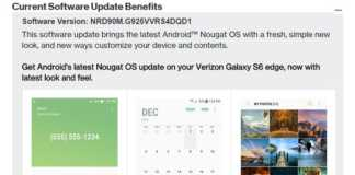 galaxy s6 nougat verizon
