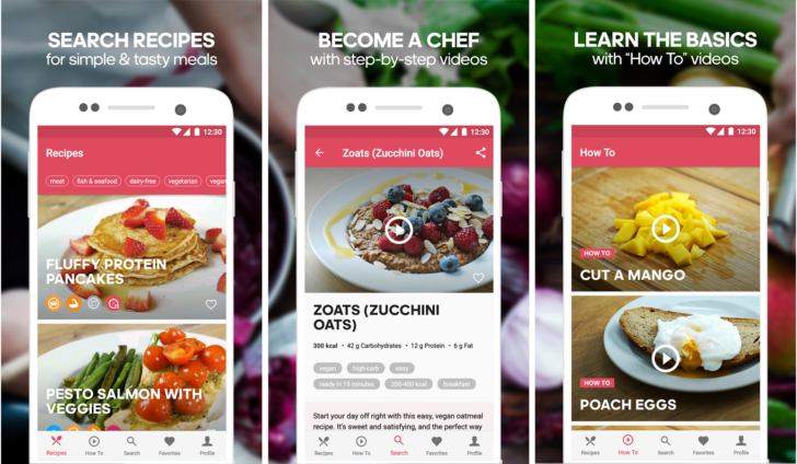 Runtastic releases runtasty android app for healthy recipes goandroid they have brought in runtastic app which allows you to cook some healthy food by following the healthy recipes in the app forumfinder Images