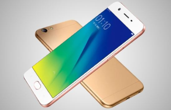 Oppo A77 front and back