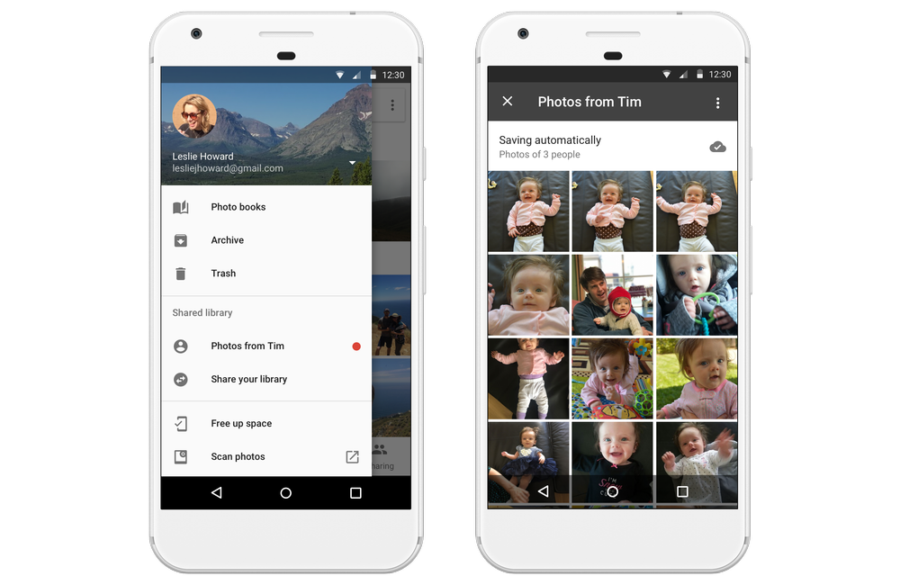 Google Photos Sharing features