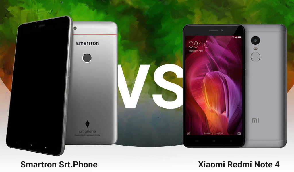 Smartron Srt.phone vs Xiaomi Redmi Note 4