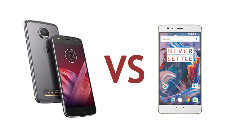 Moto Z2 Play vs OnePlus 3