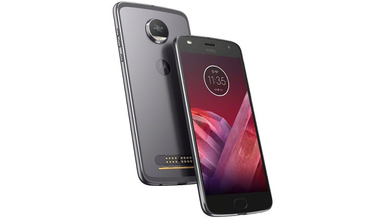 Moto Z2 Play front and back