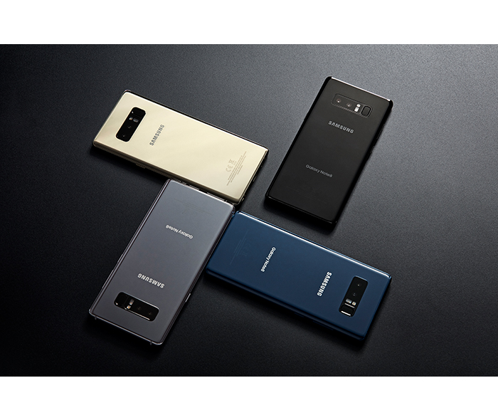 Samsung Galaxy Note8 colors