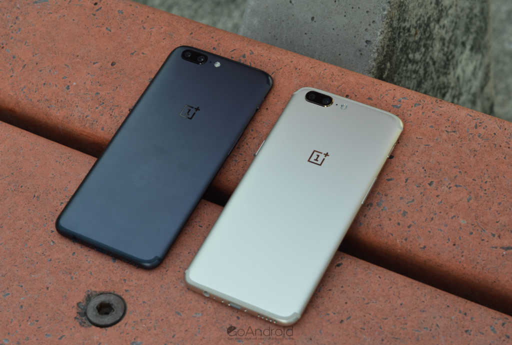 oneplus 5 soft gold and oneplus 5 slate grey comaprison