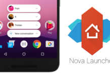 nova launcher app shortcuts