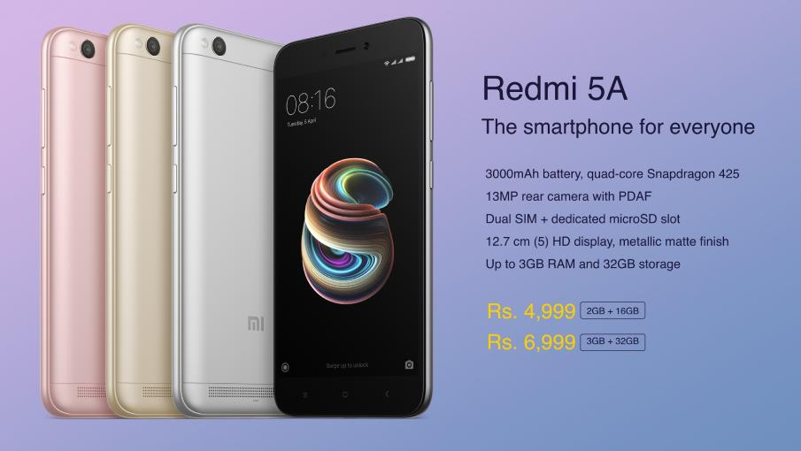 Redmi 5A launched