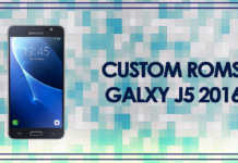 custom roms galaxy j5 2016