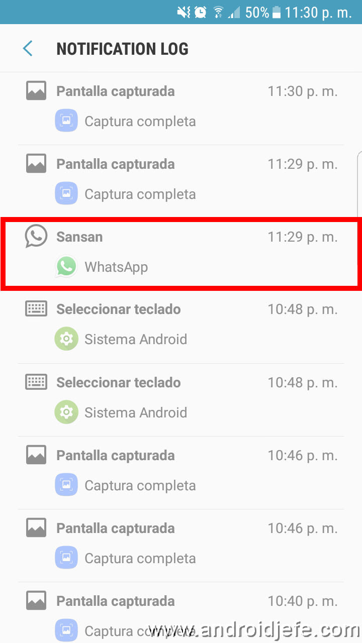 recuperar-notificaciones-eliminadas-whatsapp-notification-log-2 How to read deleted WhatsApp messages