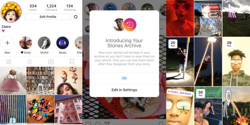Instagram brings Story Archive and Story Highlights