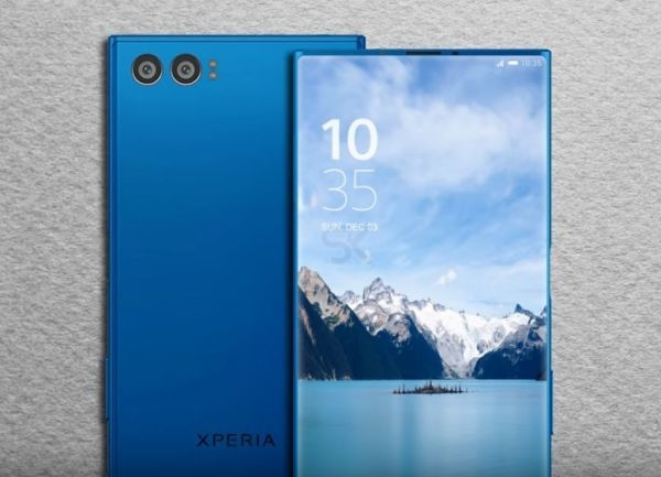 sony bezel less phone