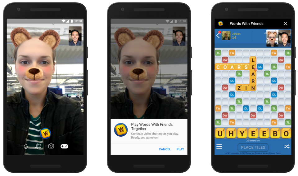 facebook instant games video chat