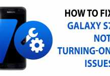 fix galaxy s7 note turning on issues