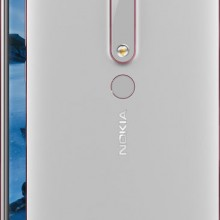 Nokia 6 2018 silver front back