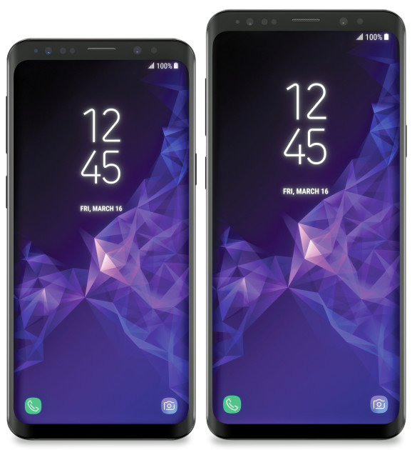 Samsung Galaxy S9 and S9 plus Renders