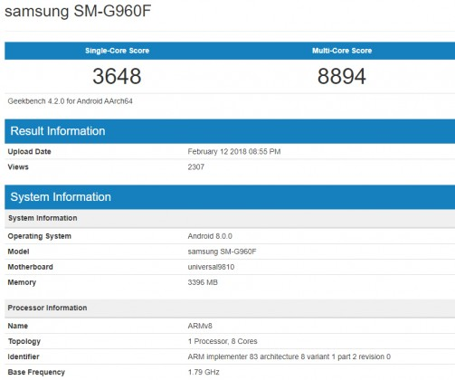 Galaxy-S9-Exynos-9810-Benchmark