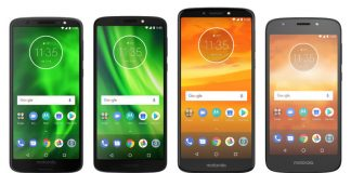 Moto G6 and Moto E5 2018 Series