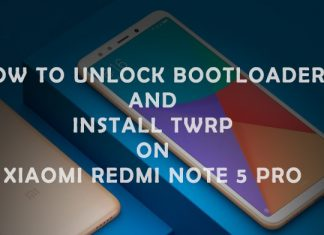 install TWRP recovery Xiaomi Redmi Note 5 Pro