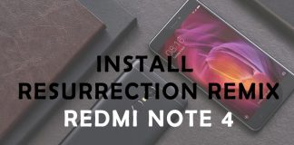 install resurrection remix redmi note 4