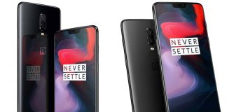 OnePlus 6 Front and Back