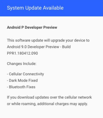 essential android p developer preview