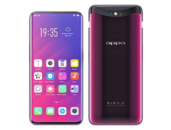 Oppo Find X snapdragon 845 running devices