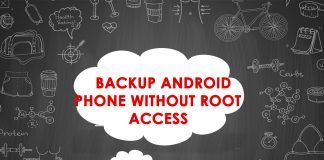 backup Android phone without root access