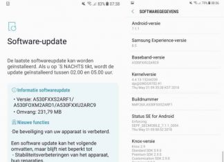 Galaxy A8 June Security Patch
