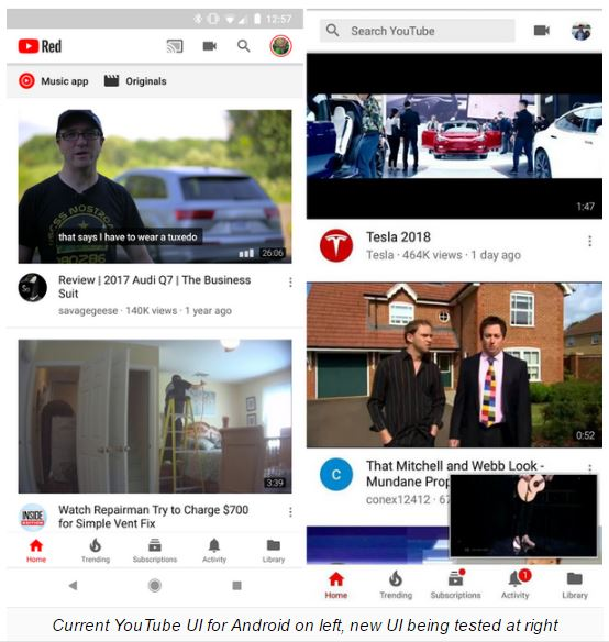 YouTube For Android Gets Revamped User Interface