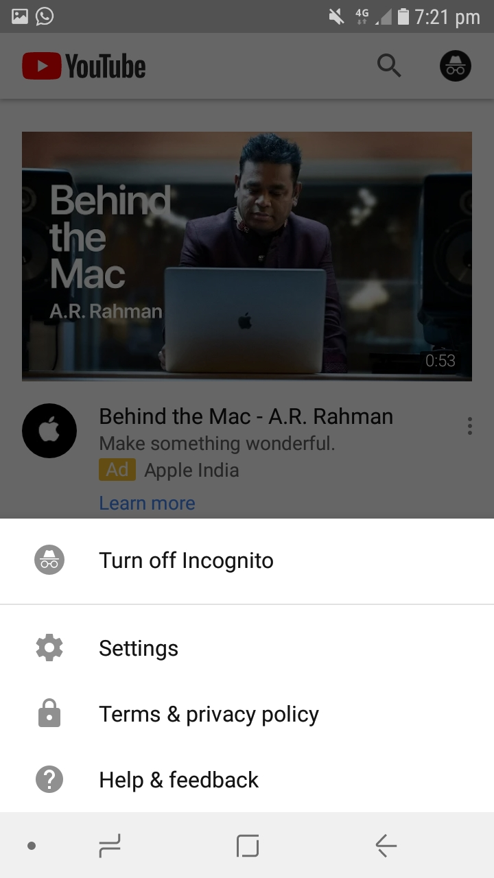 how to turn off incognito mode on macbook
