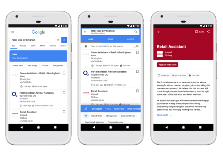Google Search job hunt feature now available in the UK