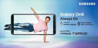 Samsung Launches Galaxy On8