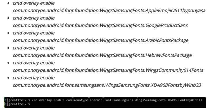 Fonts for Samsung Phones