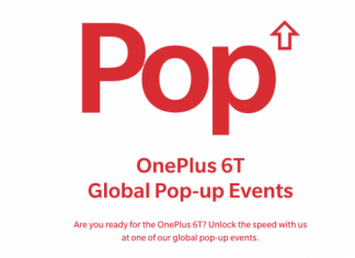 oneplus 6t pop up events