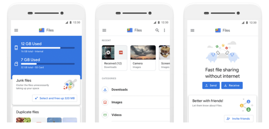 Files by Google UI