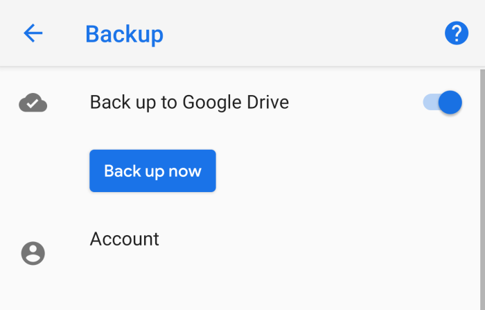 backup your Android Device on Google Drive