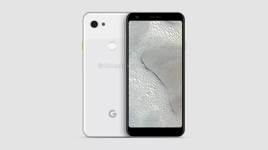 Published renderings of the Google Pixel 3 Lite and 3 Lite XL