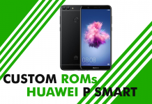 custom roms huawei p smart