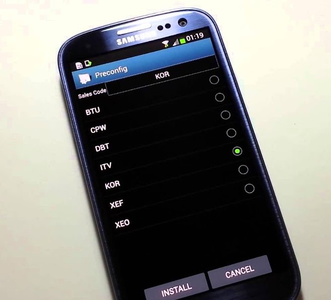 change OMC of galaxy devices