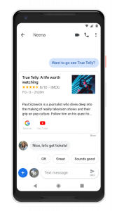 Messages for Android Google Assistant integration