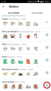 how to send stickers on Whatsapp chat