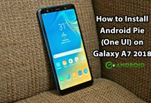 Galaxy A7 2018 Android Pie