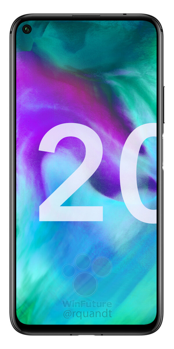 Honor 20 Midnight Black Front