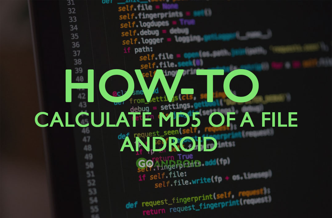How to calculate MD5 of a file on Android