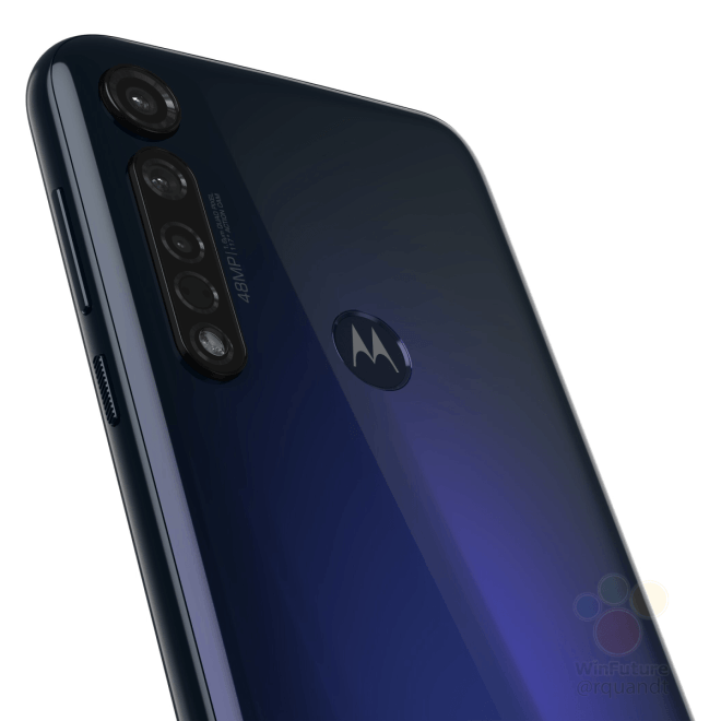 Motorola Moto G8 Plus Blue Featured