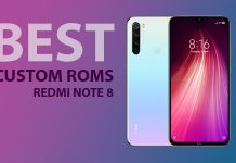 Xiaomi Redmi Note 8 custom roms
