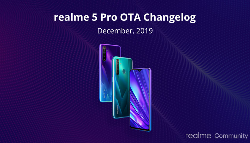 Realme 5 Pro December Security Update