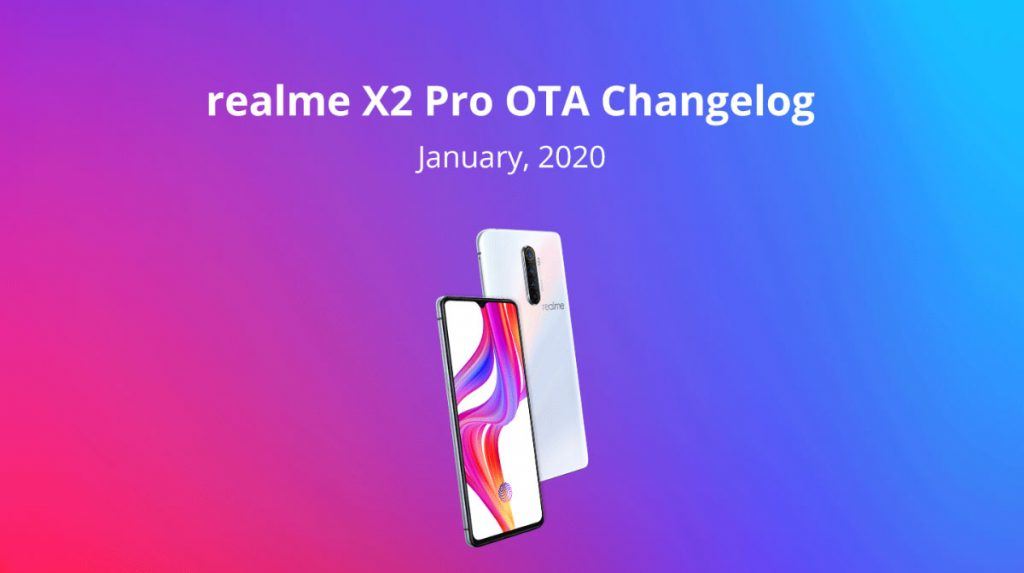Realme X2 Pro January security patch