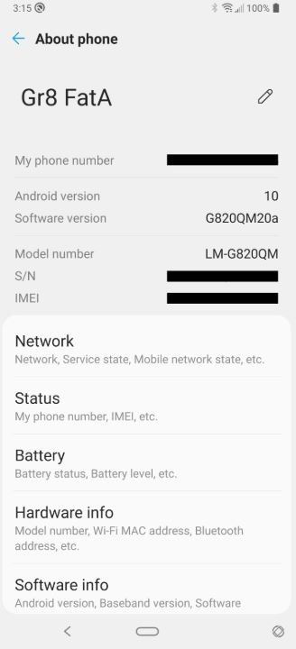 LG G8 ThinQ Unlocked Android 10 Update 02