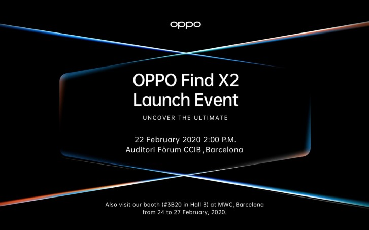 Oppo Find X2 Launch February 22